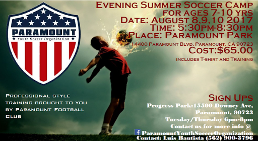 Camp Registration | Paramount City Youth Soccer League